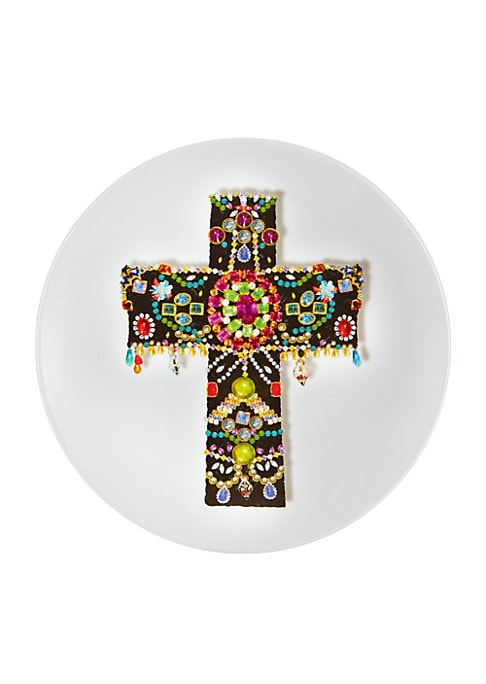 """Image of An extraordinary design to present delectables in high style. Diameter, 10"""".Porcelain. Imported."""