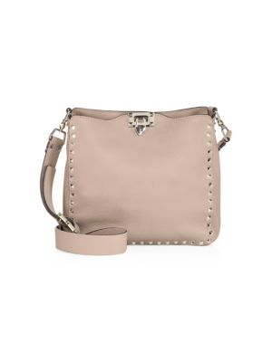 Rockstud Small Leather Hobo Bag by Valentino Garavani