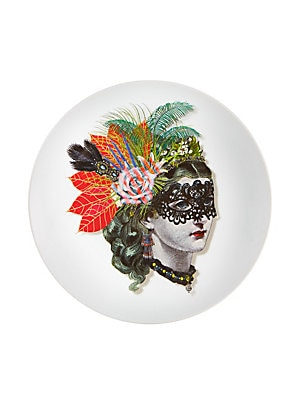 "Image of An imaginative and illustrative design in fine porcelain 12""W X 20""H Porcelain Imported. Gifts - Serveware > Saks Fifth Avenue. Christian Lacroix by Vista Alegre."