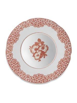 Oscar De La Renta By Vista Alegre Coralina Porcelain Soup Plate Set Of 4