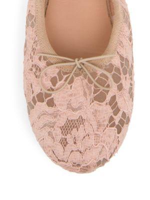 VALENTINO Leathers Rockstud Lace Ballet Flats