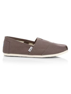 Toms Canvas Slip-Ons In Ash Canvas