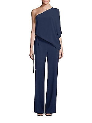 6ab9bb621a4 Halston Heritage - One-Shoulder Wide-Leg Jumpsuit