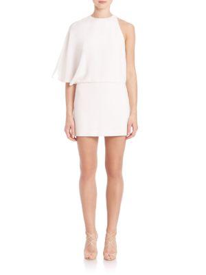 Asymmetrical Draped Mini Dress by Halston Heritage