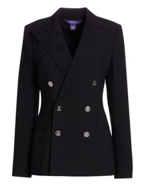 Iconic Style Camden Double-Breasted Blazer, Black