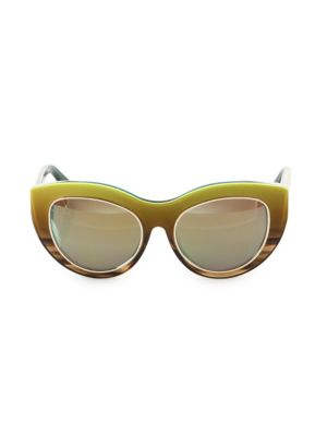DAX GABLER Cat-Eye Sunglasses in Lime Ombre