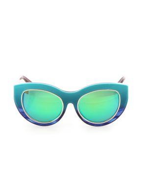 DAX GABLER Cat Eye Sunglasses in Turquoise