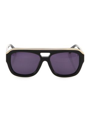 DAX GABLER Oversized Aviator Sunglasses in Black