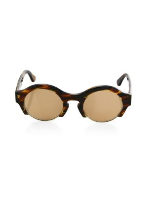 DAX GABLER Round Speckled Sunglasses in Tortoise