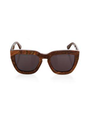 DAX GABLER Square Sunglasses in Wood