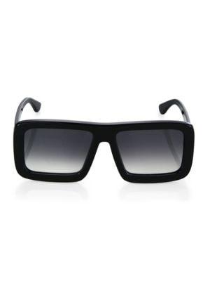 DAX GABLER Oversized Rectangular Sunglasses in Black