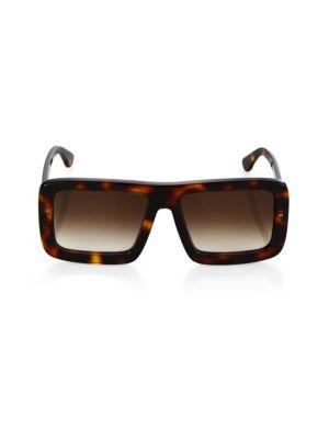 DAX GABLER Gradient Square Sunglasses in Tortoise