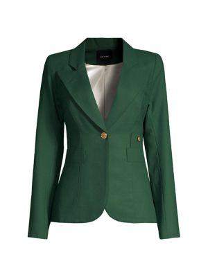 SMYTHE Duchess Wool Blazer in Green