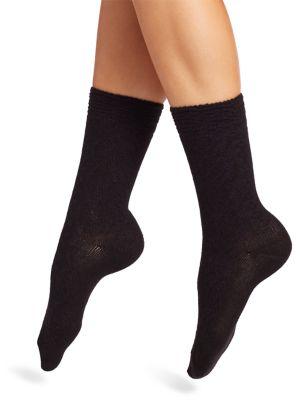 Natori Knits Rib-Knit Crew Socks