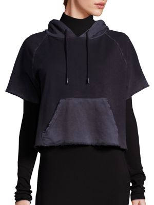 Frayed Short Sleeve Hoodie by Cotton Citizen