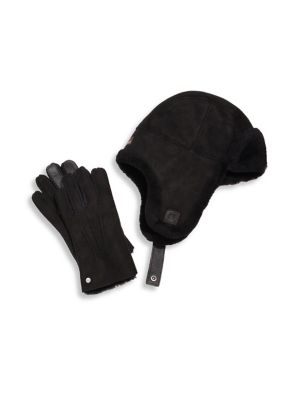7b3058021bf Shearling Hat & Smart Glove Set