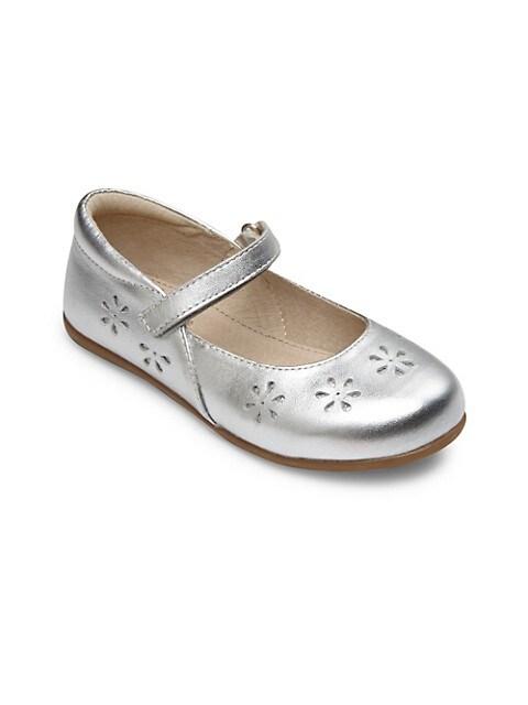 Little Girl's & Girl's Metallic Leather Mary Janes