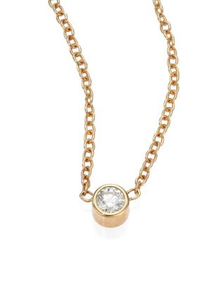 ZOË CHICCO Diamond & 14K Yellow Gold Pendant Necklace