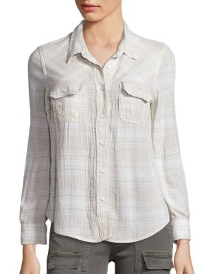 Plaid Hideaway Shirt by McGuire