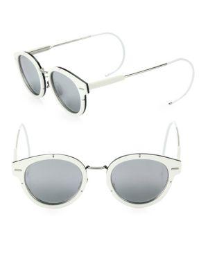 Mirrored 61MM Round Sunglasses