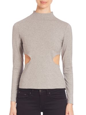 Side Cutout Long Sleeve Tee by KENDALL + KYLIE