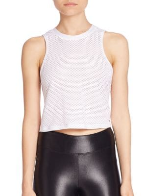 Muscle Cropped Tank Top by KORAL