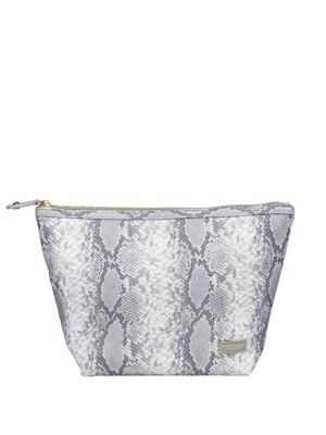 Laura Snake Print Large Cosmetic Bag by Stephanie Johnson
