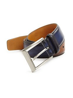 Saks Fifth Avenue. COLLECTION Two-Tone Burnished Leather Belt 6c35ad9806