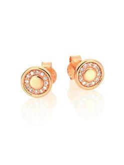 Astley Clarke Mini Cosmos Diamond 14k Rose Gold Stud Earrings