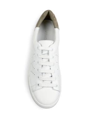 VINCE Leathers Varin Perforated Leather Sneakers