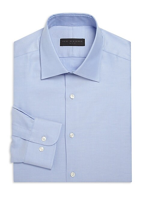 Image of .Shirt enhanced by fine micro stripes for a distinct look. Cutaway collar. Front button closure. Long sleeves with buttoned cuffs. Cotton. Machine wash. Imported.