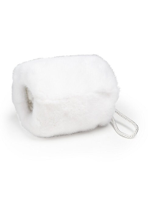 """Image of Cold-weather staple in plush mink fur. About 9"""" X 10"""".Fur type: Mink with brightener added. Fur origin: USA. Dry clean by fur specialist. Imported."""