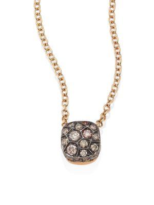 Pomellato Nudo Brown Diamond 18k Rose Gold Pendant Necklace