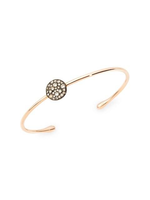 Sabbia Brown Diamond & 18K Rose Gold Bangle Bracelet