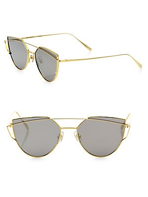 87493c454b Gentle Monster - Love Punch 55MM Mirrored Cat Eye Sunglasses - saks.com