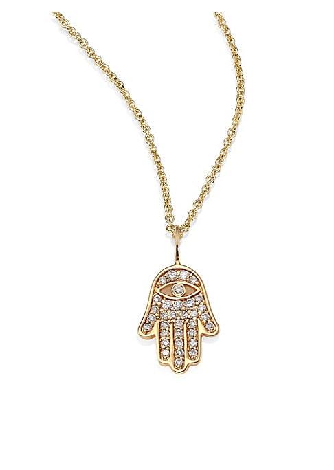 chai necklace \u05ea\u05dc\u05d9\u05d5\u05df \u05d7\u05d9 HAMSA pendant 14K gold filled hand necklace evil eye necklace kabbalah jewelry minimalist jewelry Hamsa Necklace