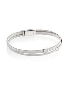 84bd6dda9da7 Marco Bicego. Masai Diamond   18K White Gold Two-Row Bracelet