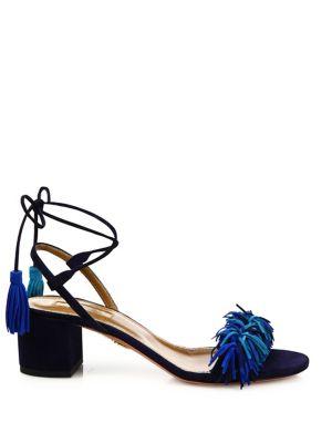AQUAZZURA Suedes Wild Thing Fringed Suede Sandals