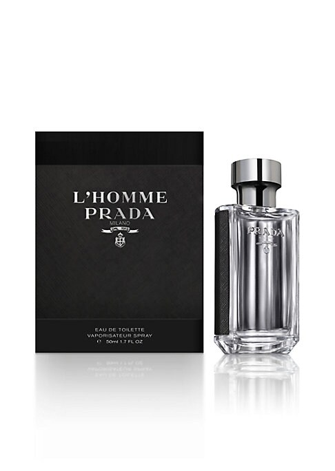 Image of L'Homme Prada is a fragrance of pairs, of doubles, of juxtapositions and layers. It is constructed around the association of the two most emblematic ingredients of the House: iris and amber, for the first time united in a Prada masculine fragrance. They a