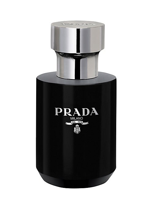 Image of An intensely rich balm that hydrates and helps soothing dry, just-shaven skin, leaving a protective film on the skin's surface and a soft velvety touch. L'Homme Prada is a fragrance of pairs, of doubles, of juxtapositions and layers. It is constructed aro