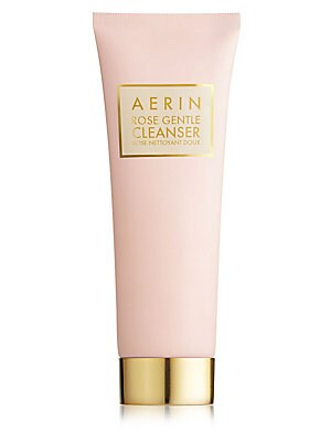 Image of A rose-infused milky cleanser that dissolves impurities without stripping skin of essential moisture. 4.2 oz. Made in USA. Cosmetics - Estee Lauder Treatment. AERIN.