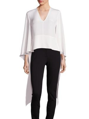 Silk V-Neck Blouse by Derek Lam