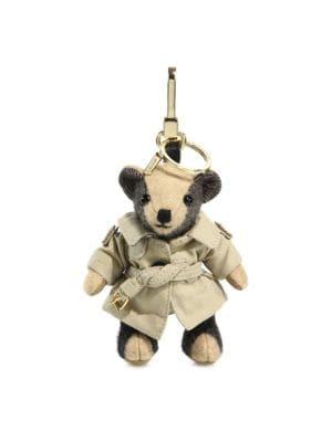Image of Thomas Trench Coat Cashmere Bear Keychain