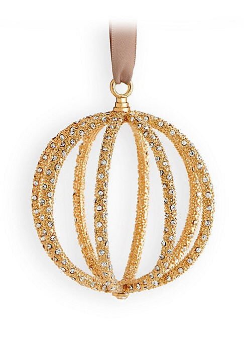Image of 24K yellow goldplate. Swarovski crystals. Spot clean. Made in Portugal.