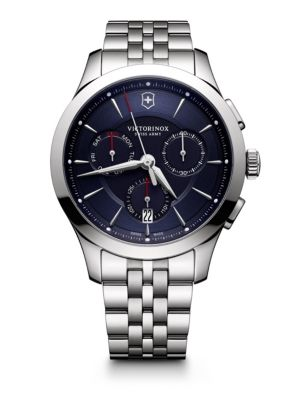 VICTORINOX SWISS ARMY Stainless Steel Chronograph Bracelet Watch in Blue