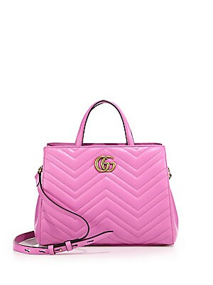 12a82ae40fb2a4 Gucci - GG Marmont Matelassé Leather Top-Handle Tote - saks.com