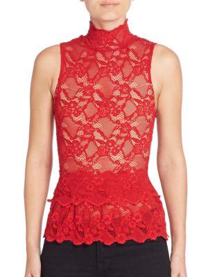 Peplum Cutout Sleeveless Top by Nightcap Clothing