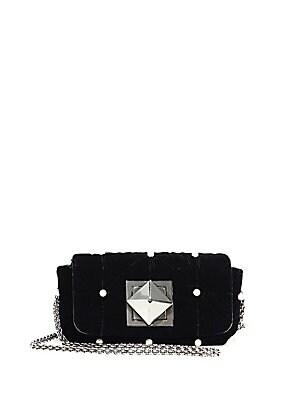 cc503bd5828 Sonia Rykiel - Le Copain Quilted Velvet Crossbody Bag - saks.com