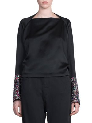 Sequin Embellished Top by Haider Ackermann