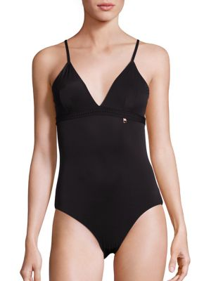 ELLE MACPHERSON BODY The Body Mesh Bodysuit in Black